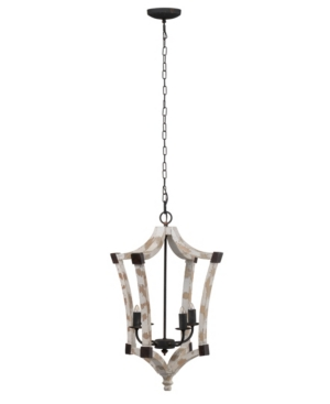 Image of Andreas Wood And Iron Winged Chandelier