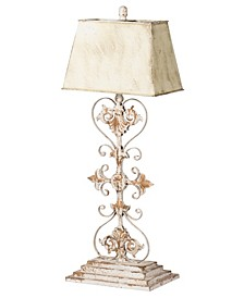 White and Gold Iron Table Lamp