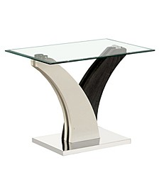 Tri Glass Top End Table