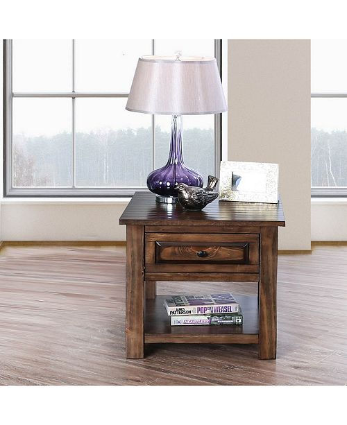 Furniture of America Nyah Walnut End Table