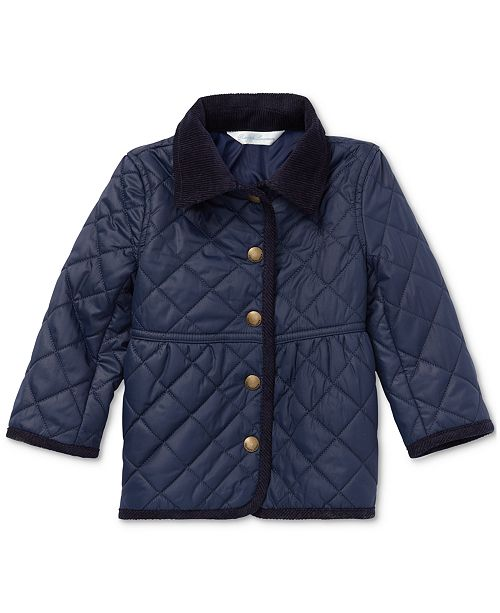 56f61dc38 Polo Ralph Lauren Baby Girls Quilted Barn Jacket & Reviews - Coats ...