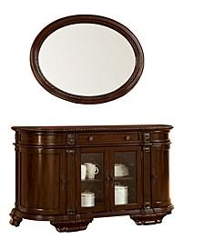 Ramsaran Oval Mirror, Quick Ship