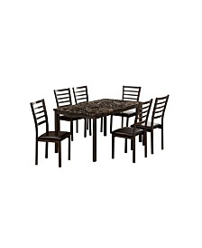 Maxson 7pc Table Set, Quick Ship