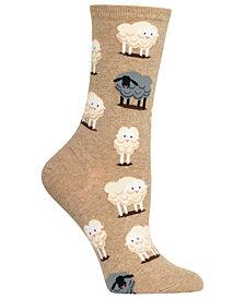 Hot Sox Women's Black Sheep Crew Socks