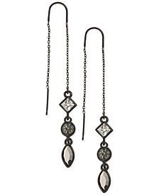 DKNY Triple-Crystal Threader Earrings, Created for Macy's