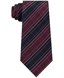 Kenneth Cole Reaction Men's Satin Modern Grid Slim Silk Tie