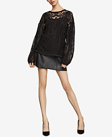 BCBGMAXAZRIA Floral Embroidered Top