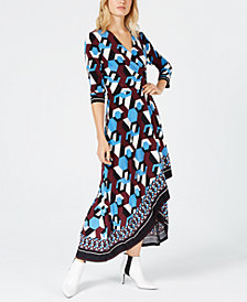 I.N.C. Asymmetrical-Hem Wrap Dress, Created for Macy's