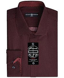 Society of Threads Men's Slim-Fit Non-Iron Performance Print Dress Shirt
