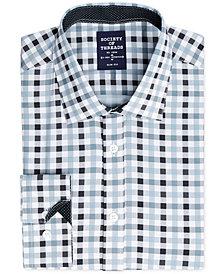 Society of Threads Men's Slim-Fit 4-Way Stretch Gingham Dress Shirt