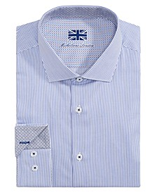 of London Men's Slim-Fit Stripe Dress Shirt