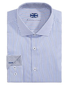 Michelsons of London Men's Slim-Fit Stripe Dress Shirt