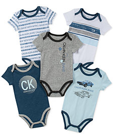 Calvin Klein Baby Boys 5-Pk. Printed Bodysuits