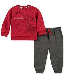 Calvin Klein Baby Boys 2-Pc. Quilted Top & Jogger Pants Set