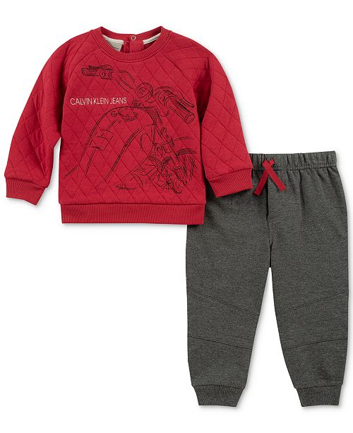 33a8fffdc Calvin Klein Baby Boys 2-Pc. Quilted Top   Jogger Pants Set ...