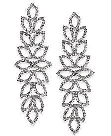 "Extra Large Crystal Leaf Drop Earrings, 4"", Created for Macy's"