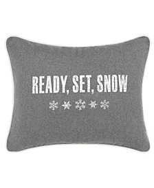 Ready Set Snow Dark Grey Breakfast Pillow