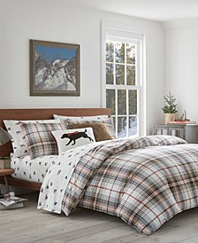 Classic Plaid Red Full/Queen Comforter Set
