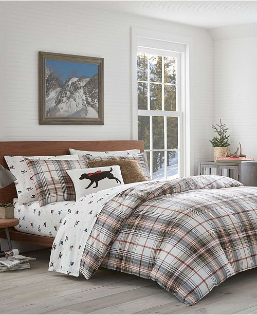Ed Bauer Clic Plaid Red Twin Duvet Set
