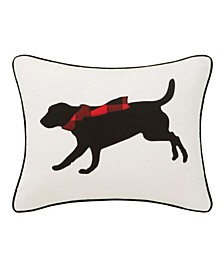 Winter Lab Decorative Pillow
