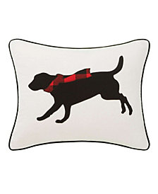 Eddie Bauer Winter Lab Red Breakfast Pillow