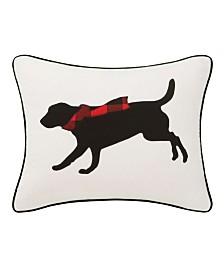 Eddie Bauer Winter Lab Red Breakfast Pillow