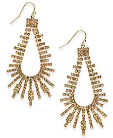 "Thalia Sodi Extra Large Crystal Bar Open Drop Earrings, 2.75"", Created for Macy's"
