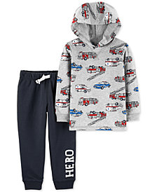 Carter's Toddler Boys 2-Pc. Cotton Hooded T-shirt & Jogger Pants Set