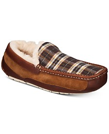 UGG® Men's Ascot Plaid Holiday Slippers
