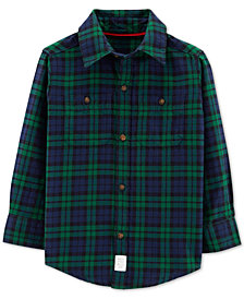 Carter's Toddler Boys Cozy Plaid Cotton Shirt