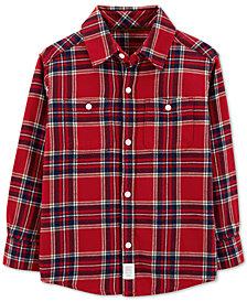 Carter's Toddler Boys Cozy Plaid Cotton Shirt