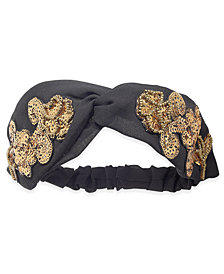 I.N.C. Sequined Turban Headband, Created for Macy's