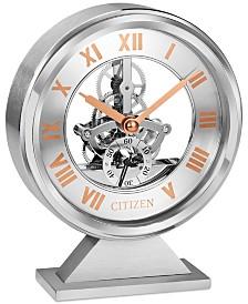 Citizen Decorative Silver-Tone & Rose Gold-Tone Desk Clock