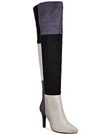 Rialto Carpio Colorblocked Over-The-Knee Boots