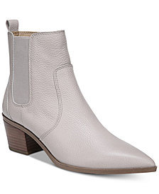 Franco Sarto Sienne Pointed-Toe Block-Heel Booties