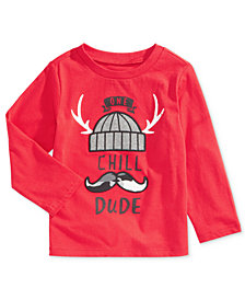 First Impressions Baby Boys One Chill Dude Cotton T-Shirt, Created for Macy's