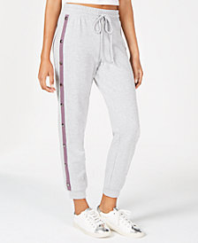 Material Girl Juniors' Snap-Side Jogger Pants, Created for Macy's