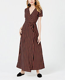 Sage The Label Striped Wrap Dress