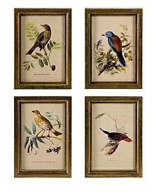 Imax Wooden Bird Plaques - Set of 4