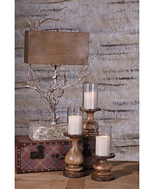 Nakato Wood Bark Candleholders - Set of 3