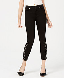 7 For All Mankind Embellished Ankle Skinny Jeans