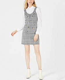 PROJECT 28 NYC Embroidered Plaid Dress