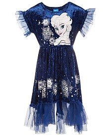 Disney Toddler Girls Elsa Frozen Crushed-Velvet Dress