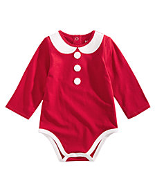 First Impressions Baby Girls Mrs. Claus Bodysuit, Created for Macy's