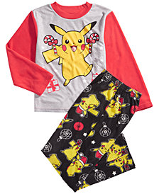Pokémon Little & Big Boys 2-Pc. Pikachu Fleece Pajama Set