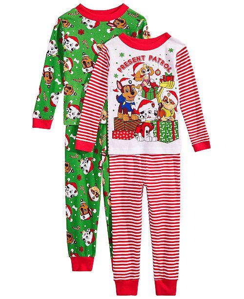 PAW Patrol Toddler Boys 4-Pc. Pajama Set - Pajamas - Kids - Macy s 8abbae711