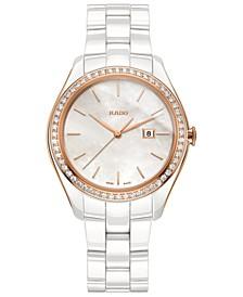 Women's Swiss HyperChrome Diamond (3/8 ct. t.w.) White High-Tech Ceramic Bracelet Watch 36mm