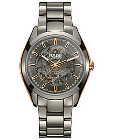 Rado Men's Swiss Automatic HyperChrome Plasma High-Tech Ceramic Bracelet Watch 42mm