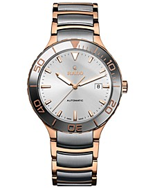 Men's Swiss Automatic Centrix Silver-Tone and Rose Gold-Tone Stainless Steel Bracelet Watch 42mm