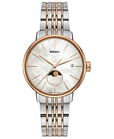 Rado Women's Swiss Coupole Classic Two-Tone PVD Stainless Steel Bracelet Watch 34mm